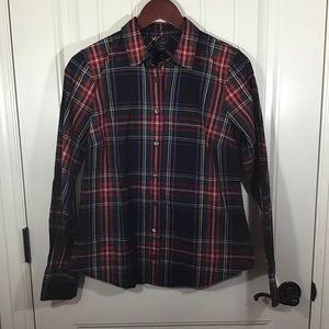 NWT J. Crew Perfect Shirt in Stewart Plaid.